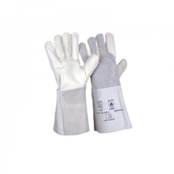 Schweißerhandschuh 5-Finger-Kombi, Voll/Spaltleder Gr. 10