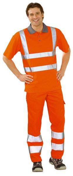 Warnschutz Polo-Shirt zweifarbig