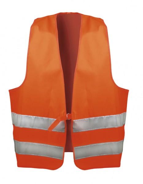 Warnweste orange nach EN 471 Klasse 2