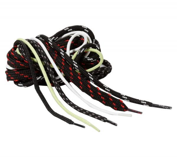 Schnürsenkel - Band 120 cm, schwarz/rot