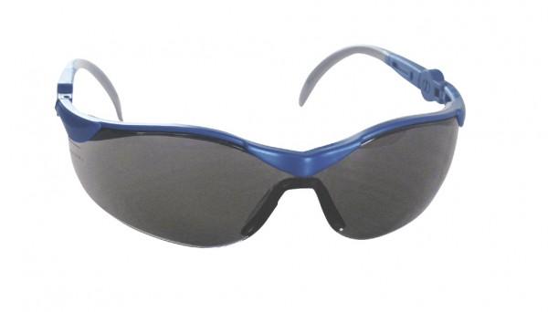 Schutzbrille PANORAMA blau, getönte Scheibe, Bügel verstellbar in Länge und Neigung