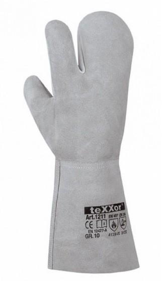 Arbeitshandschuh 3-Finger Rindvoll-/ Spaltleder