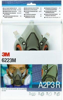 3M™ Halbmasken-Set 6223M, Maskenkörper 6200M. 2x 6055, 4x 5935, 2x 501