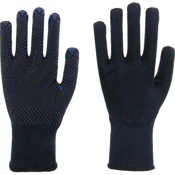 Arbeitshandschuh Nylon/Baumwolle, blau, mit blauen PVC-Noppen einseitig